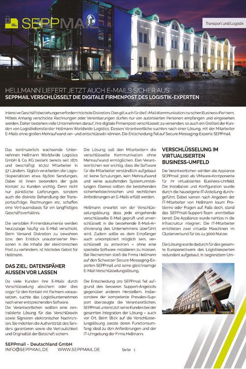 SEPPmail Hellmann Worldwide Logistics
