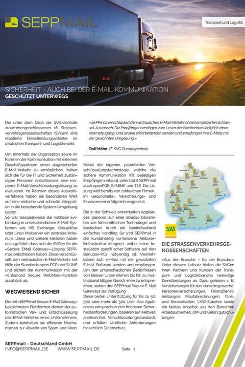 SEPPmail Strassenverkehrsgenossenschaften